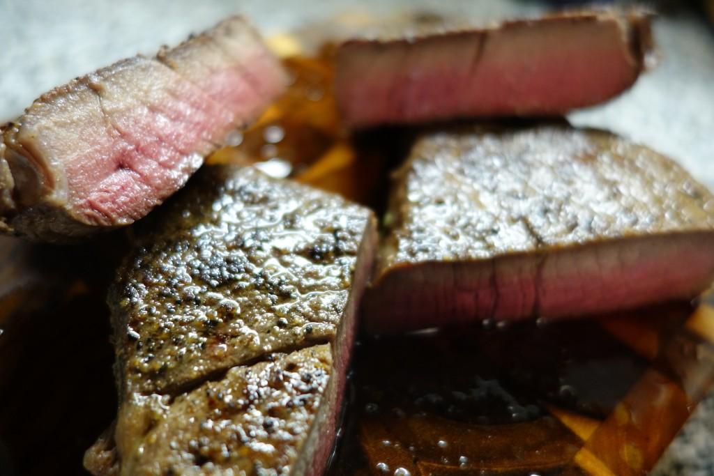 Finished Sous Vide Filet Mignon Steaks